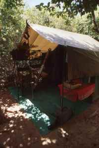 Home for the week, my tent in The Selous