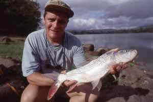 I love fishing for tigerfish, one of many caught in The Selous Game Reserve, Tanzania